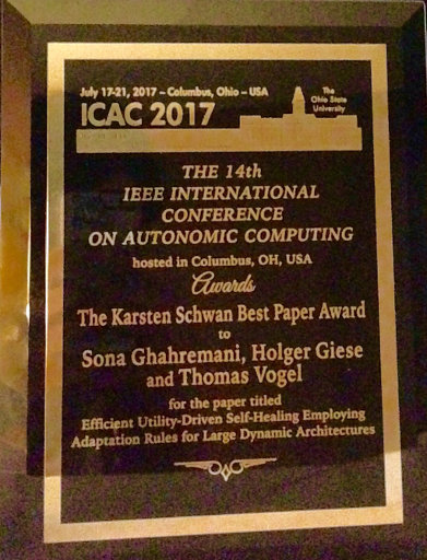 ICAC 2017 Best Paper Award